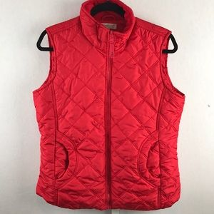 Coldwater Creek - Size M Red Puffer Vest w/pockets
